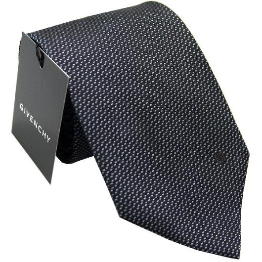GIVENCHY ジバンシー ネクタイ ブラック×ブルー系 CR8GT020X1 画像1