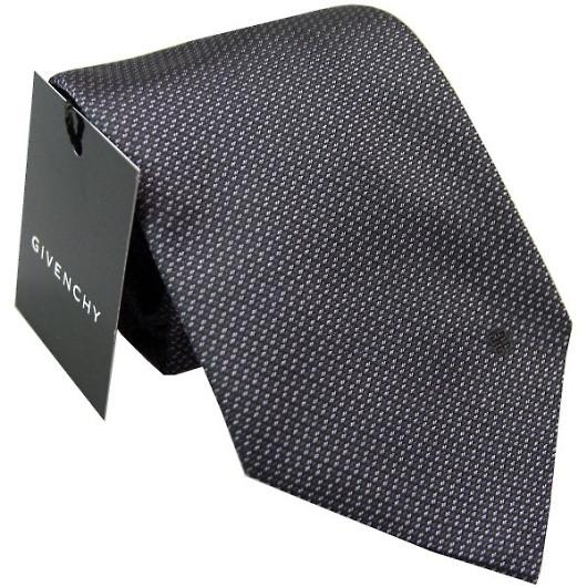GIVENCHY ジバンシー ネクタイ ブラック×パープル系 画像1