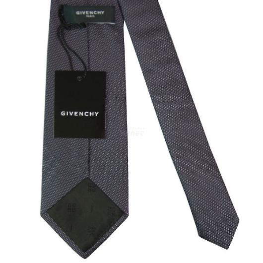 GIVENCHY ジバンシー ネクタイ ブラック×パープル系 画像3