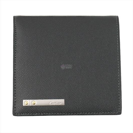 CARTIER カルティエ Santos サントス 二つ折り財布 ブラック L3000772 画像1