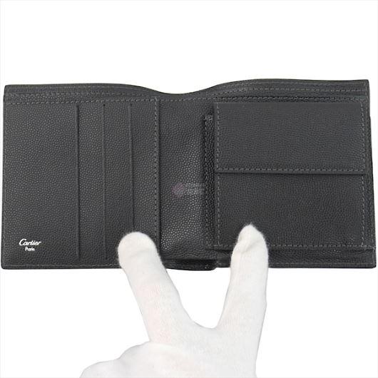 CARTIER カルティエ Santos サントス 二つ折り財布 ブラック L3000772 画像2