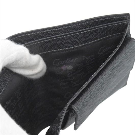 CARTIER カルティエ Santos サントス 二つ折り財布 ブラック L3000772 画像3
