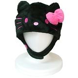 サザック キティ 着ぐるみ きぐるみキャップ 帽子 ブラック SAN-895