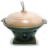 ニチネン 固形燃料コンロ用 一人鍋 深型陶板鍋全部セット