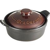 グレイスラミック 陶製洋風土鍋(17cm) GC-01
