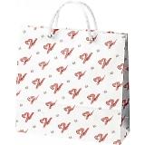 紙袋 ペーパーバッグ(小) リボン柄 33×10×32cm 62660GGM