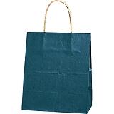 紙袋 カラーバッグ ペーパーバッグ 無地 (XS) 紺 21×12×25cm #3266301