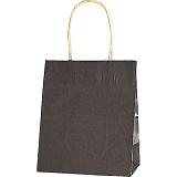 紙袋 カラーバッグ ペーパーバッグ 無地 (XS) 焦茶 21×12×25cm #3266303