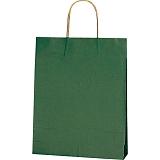 紙袋 カラーバッグ ペーパーバッグ 無地 (SS) 緑 27×8×34cm #3276805