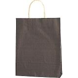 紙袋 カラーバッグ ペーパーバッグ 無地 (SS) 焦茶 27×8×34cm #3276806