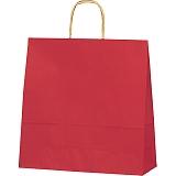 紙袋 カラーバッグ ペーパーバッグ 無地 (S) 赤 32×11.5×31cm #3251203