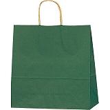 紙袋 カラーバッグ ペーパーバッグ 無地 (S) 緑 32×11.5×31cm #3251205