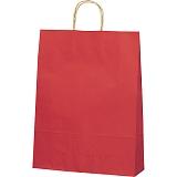紙袋 カラーバッグ ペーパーバッグ 無地 (M) 赤 32×11.5×41cm#3201403