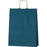 紙袋 カラーバッグ ペーパーバッグ 無地 (M) 紺 32×11.5×41cm#3201404