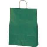 紙袋 カラーバッグ ペーパーバッグ 無地 (M) 緑 32×11.5×41cm#3201405
