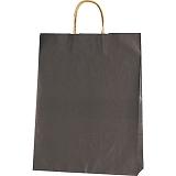 紙袋 カラーバッグ ペーパーバッグ 無地 (M) 焦茶 32×11.5×41cm#3201406