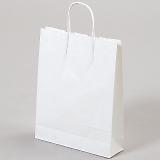 紙袋 丸紐 ペーパーバッグ 白無地バッグ(SS) 27×8×34cm #3276011
