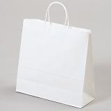 紙袋 丸紐 ペーパーバッグ 白無地バッグ(S) 32×11.5×31cm #3240101