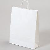 紙袋 丸紐 ペーパーバッグ 白無地バッグ(M) 32×11.5×41cm #3235801