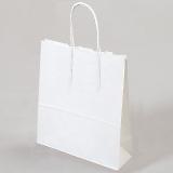 紙袋 丸紐 ペーパーバッグ 白無地バッグ(XS) 21×12×25cm #3266000