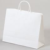紙袋 丸紐 ペーパーバッグ 白無地バッグ(マチ広ML) 32×20×29cm #3268000