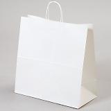 紙袋 丸紐 ペーパーバッグ 白無地バッグ(LL) 45×22×45.5cm #3297000