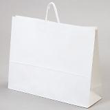 紙袋 丸紐 ペーパーバッグ 白無地バッグ(3L) 60×18×47cm #3299800(2015)