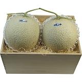 静岡県産マスクメロン2玉(木箱入)