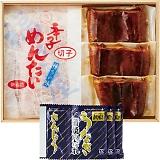 「鰻楽」うなぎ蒲焼(3枚)&福さ屋 辛子明太子(切子)セット