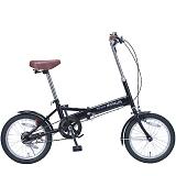 My Pallas マイパラス M-101-BK 16インチ 折り畳み自転車16インチ ブラック
