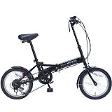My Pallas マイパラス M-102-BK 16インチ 6段変速 折り畳み自転車16インチ ブラック