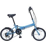 My Pallas マイパラス M-102-BL 16インチ 6段変速 折り畳み自転車16インチ ブルー