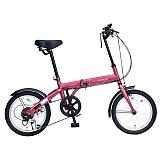 My Pallas マイパラス M-103-RO 16インチ 6段変速 折り畳み自転車16インチ ルージュ