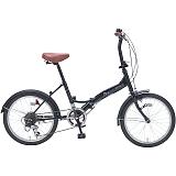 My Pallas マイパラス M-209-BK 20インチ 6段変速 折畳自転車 ブラックパール