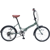 My Pallas マイパラス M-209-GR 20インチ 6段変速 折畳自転車 アイビーグリーン