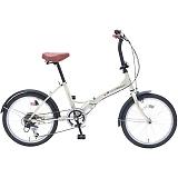 My Pallas マイパラス M-209-IV 20インチ 6段変速 折畳自転車 アイボリー