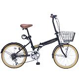 My Pallas マイパラス M-252-BK 20インチ 6段変速 折畳自転車 ブラック