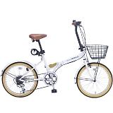 My Pallas マイパラス M-252-WH 20インチ 6段変速 折畳自転車 ホワイト