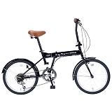 My Pallas マイパラス M-208-BK 20インチ 6段変速 折畳自転車 ブラック