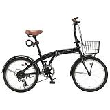 My Pallas マイパラス HCS-01-BK 20インチ 6段変速 折畳自転車 ブラック