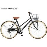My Pallas マイパラス M-501-BK シティサイクル26インチ 6段変速自転車 ブラック
