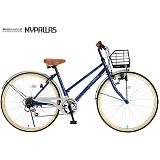 My Pallas マイパラス M-501-BL シティサイクル26インチ 6段変速自転車 ブルー
