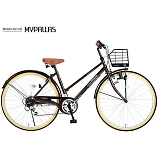 My Pallas マイパラス M-501-BR シティサイクル26インチ 6段変速自転車 ブラウン
