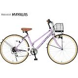 My Pallas マイパラス M-501-OC シティサイクル26インチ 6段変速自転車 オーキッド