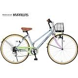 My Pallas マイパラス M-501-PA シティサイクル26インチ 6段変速自転車 パステル