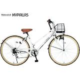 My Pallas マイパラス M-501-WH シティサイクル26インチ 6段変速自転車 ホワイト