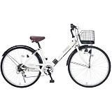 My Pallas マイパラス M-502-IV シティサイクル26インチ 6段変速自転車 肉厚チューブ アイボリー