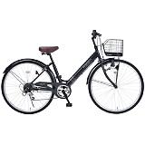 My Pallas マイパラス M-502-BK シティサイクル26インチ 6段変速自転車 肉厚チューブ ブラック