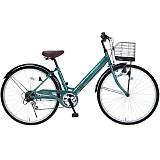 My Pallas マイパラス M-502-GR シティサイクル26インチ 6段変速自転車 肉厚チューブ グリーン