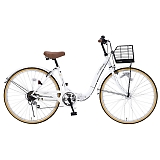 My Pallas マイパラス M-509-W 折畳シティサイクル 26インチ 6段変速 折畳自転車 オートライト ホワイト